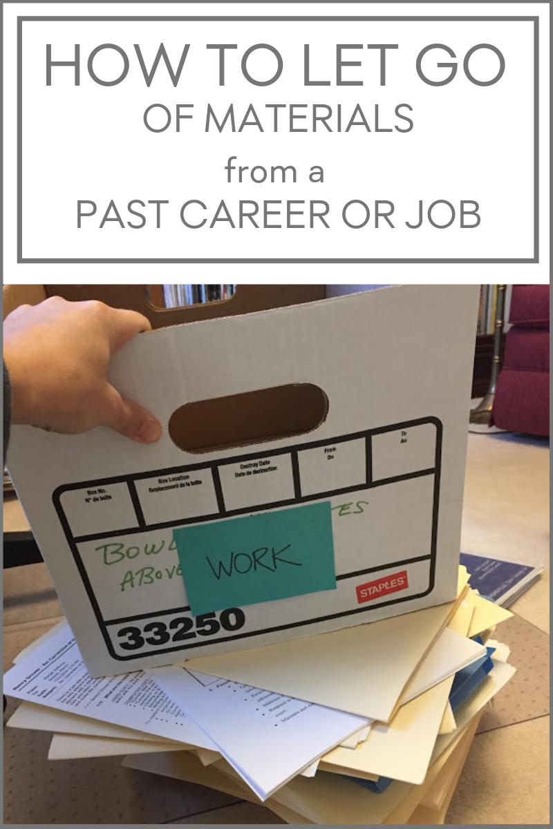 Kacy Paide, professional organizer, shares her thoughts about how long to keep materials from a past career, job, or degree work.