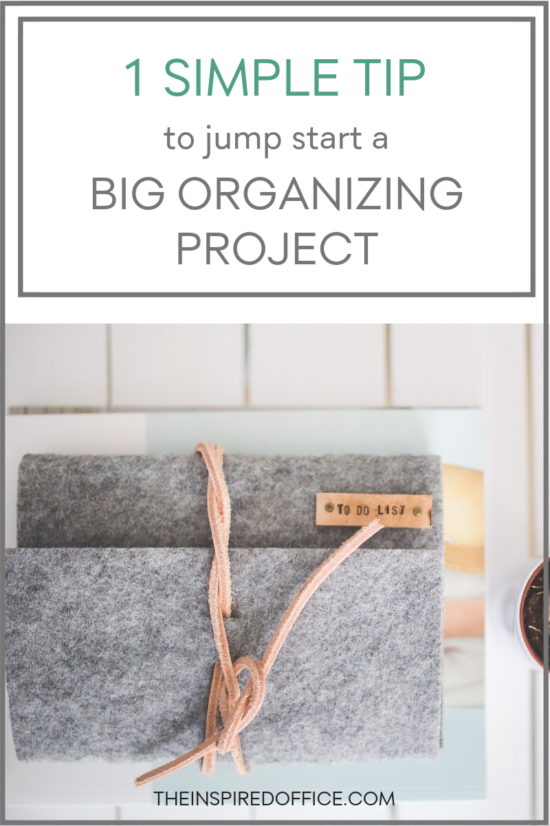 Big projects, like organizing boxes and boxes of photos, can feel daunting and overwhelming. See how you can quickly jump start any big organizing project and feel good about it instantly.