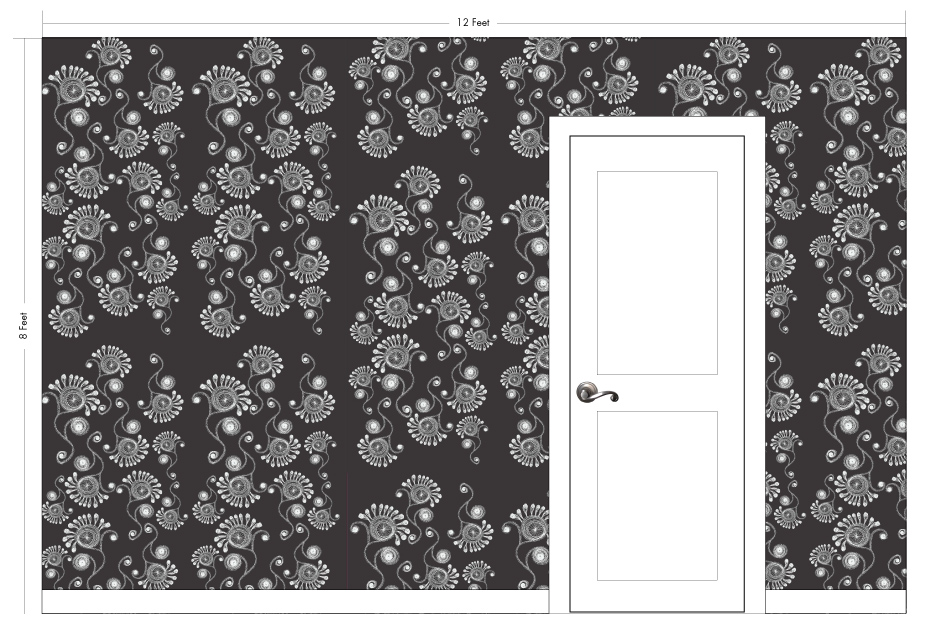 "MADDY black | Pattern Repeat: 26""w x 54""h"
