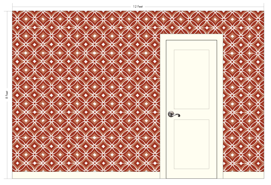 "FRIDA paprika | Pattern Repeat: 20""w x 15""h"