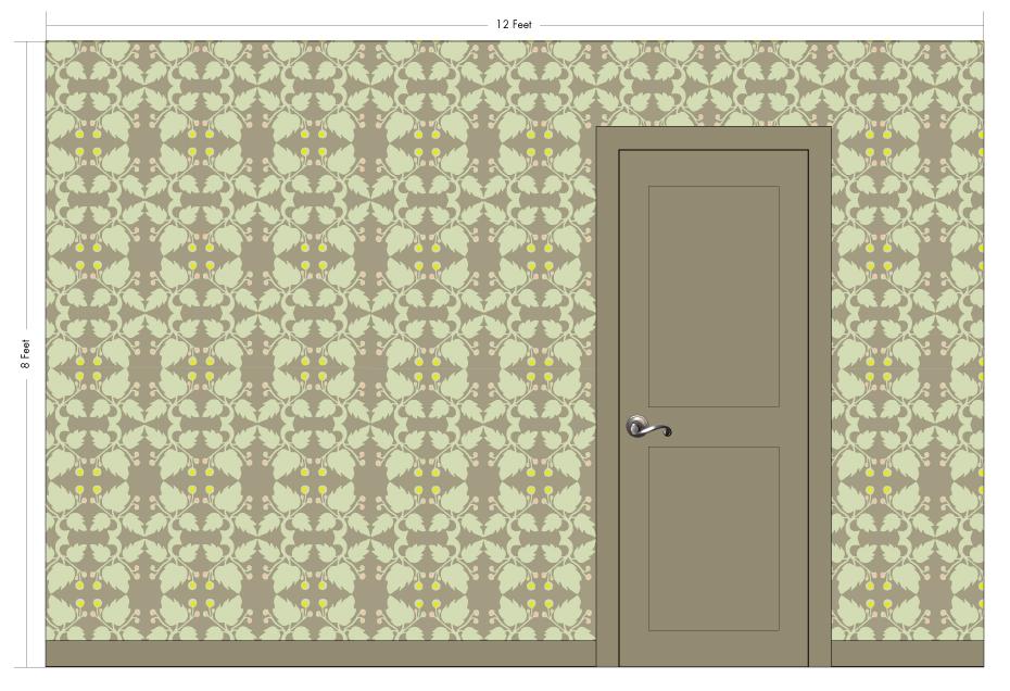 "WHITWORTH truffle | Pattern Repeat: 18""w x 18""h"