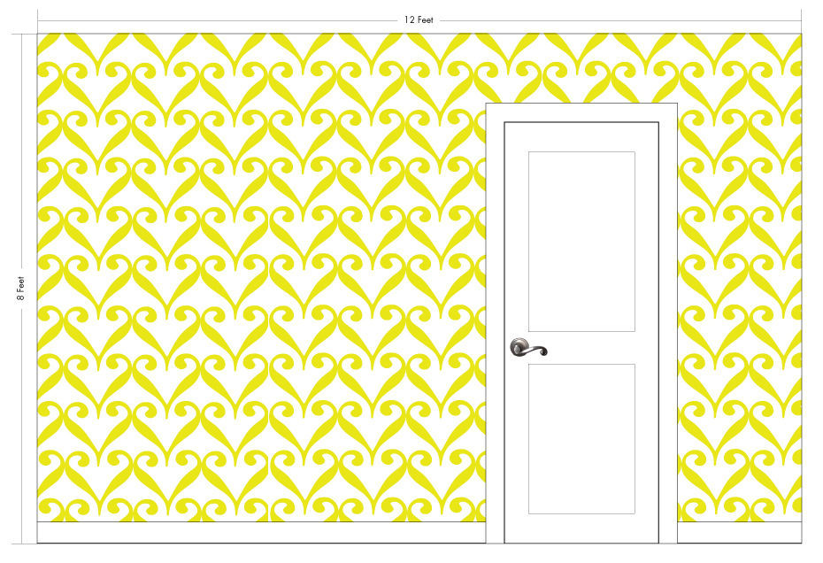 "SARAH saffron | Pattern Repeat: 13.75""w x 13""h"
