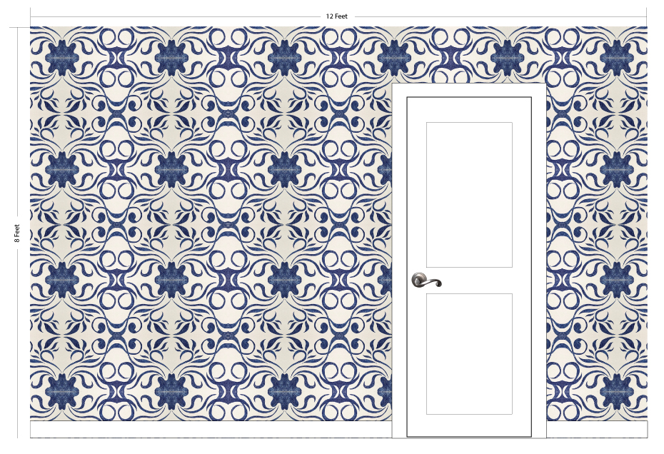 "MOLLY indigo | Pattern Repeat: 26.5""w x 26""h"