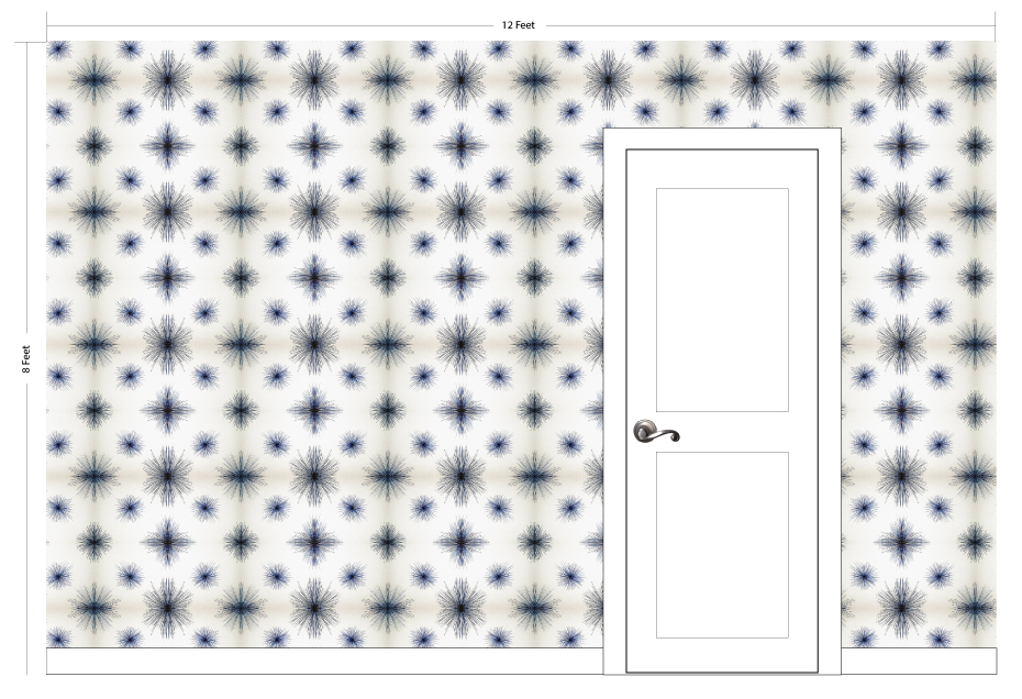 "STARI indigo | Pattern Repeat: 22.25""w x 19.75""h"