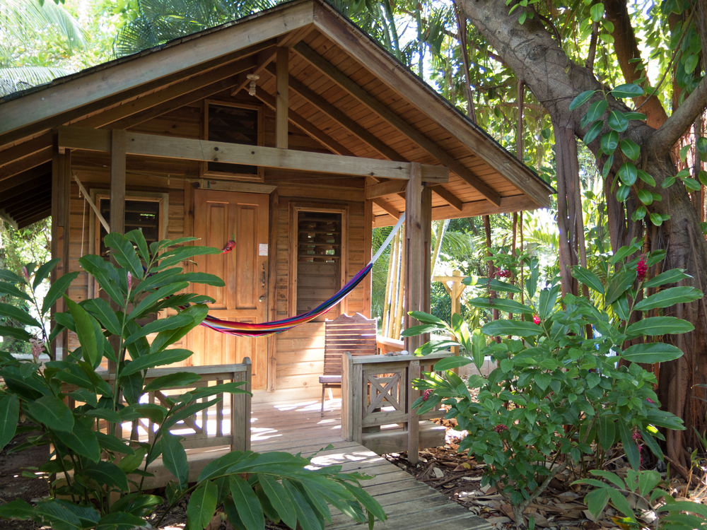 Private cabin, Hotel Chillies, West End, Roatan.