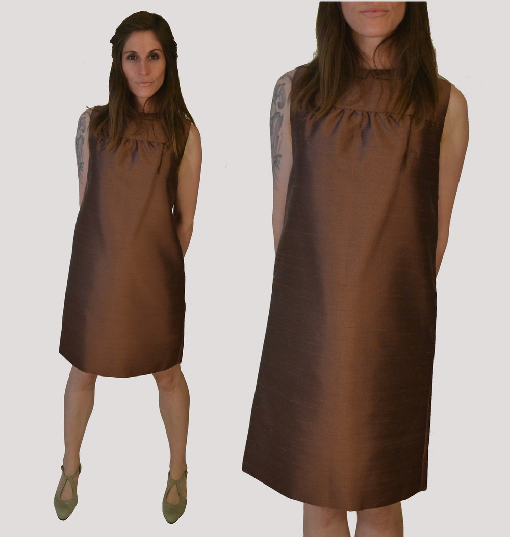 1960s Raw Silk Shift