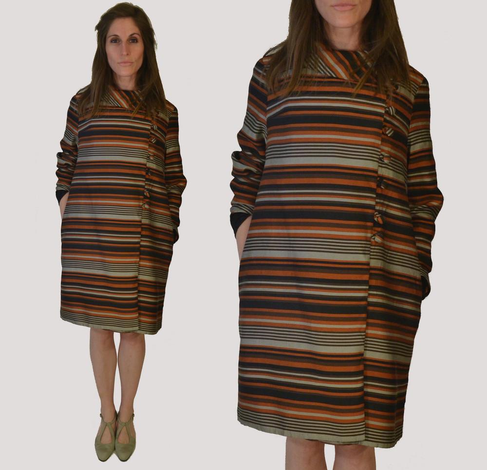 1960s Silk Buttoned Coat
