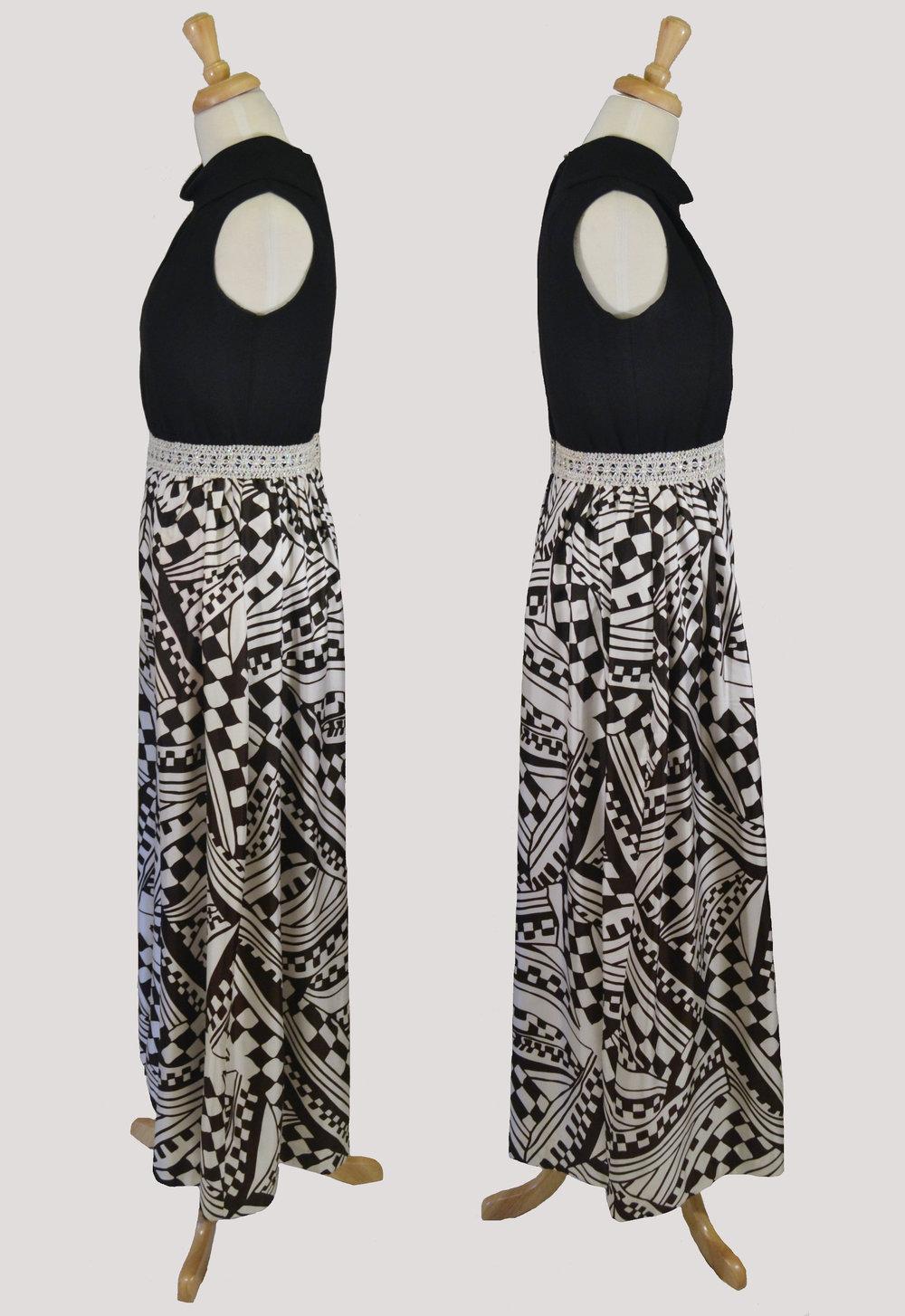 1960s Jennifer North Geo Print Pantsuit