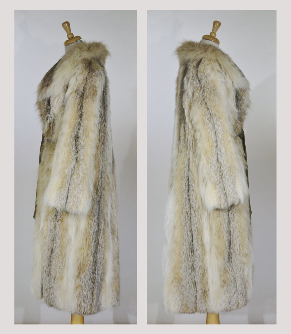 Super Sly 1970s Fox Fur Coat