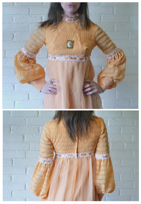 1960s Peachy Keen Dress Front Back.jpg