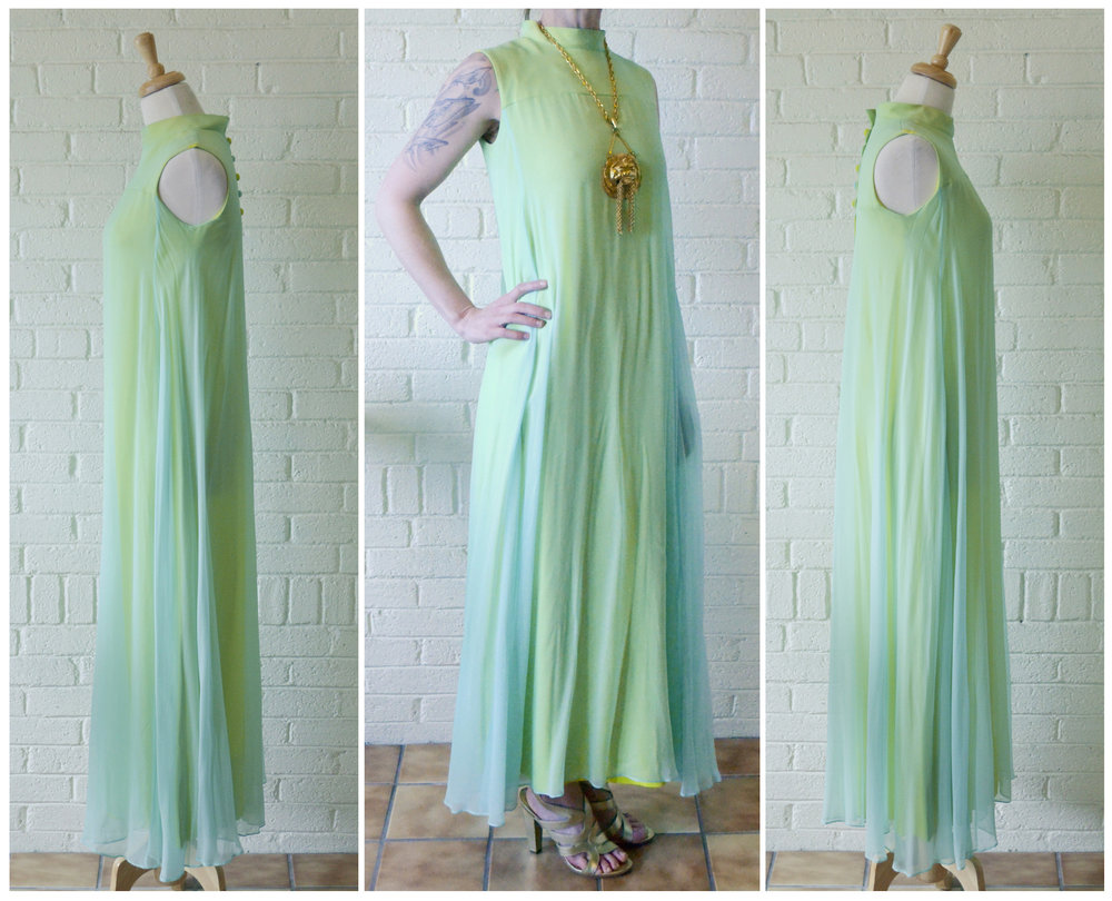 1960s Crepe Drape Dress Sides.jpg
