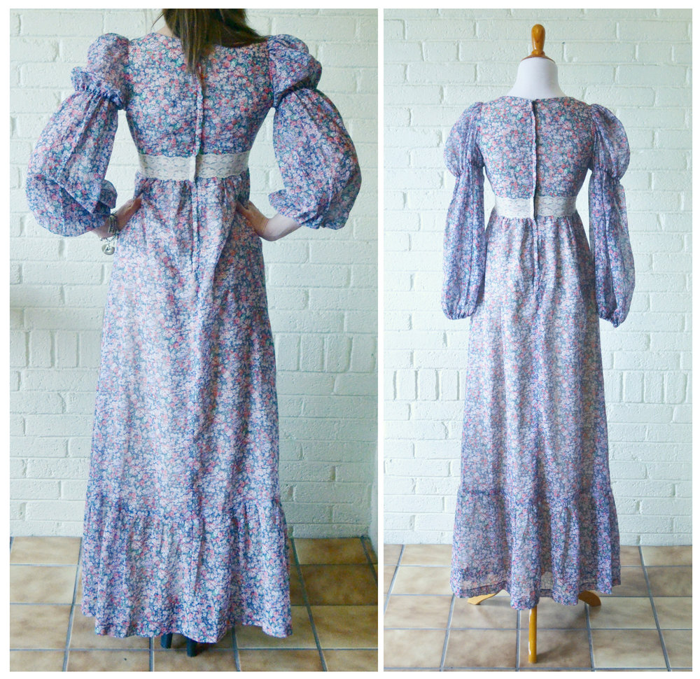 1960s Gunne Sax Peasant Dress Back.jpg