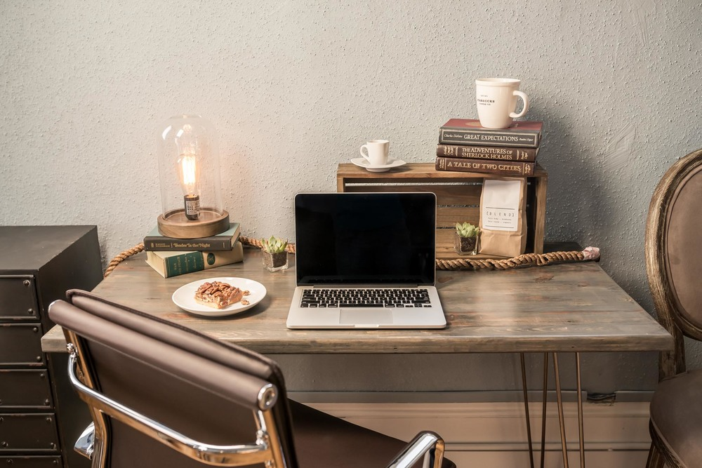 desk and office space in the new coworking space coming to Graham, North Carolina. Photography by Silver Feather Studios.