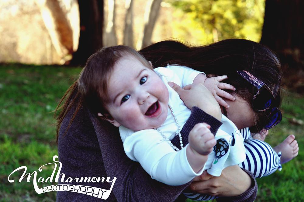 Sidnee + Adeleine (8 months) / Vasona Park CA /January 2015