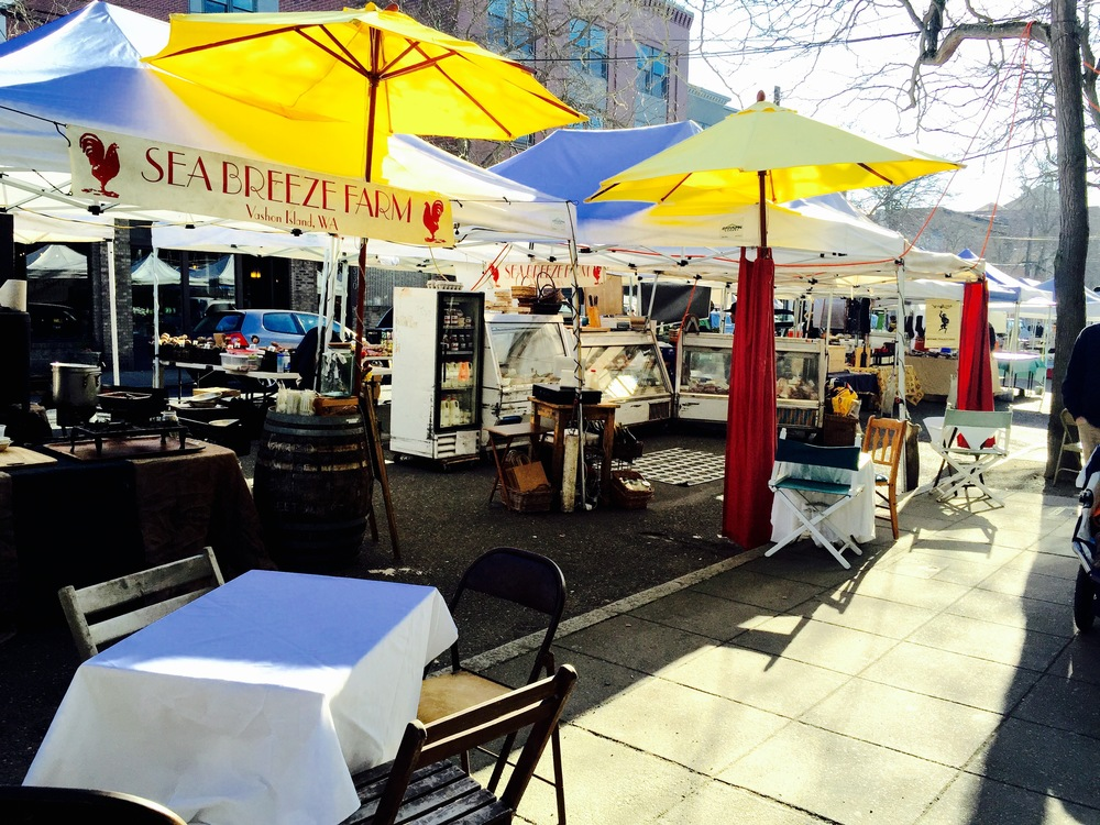 The Ballard Farmer's Market, Easter Sunday, 2015, 9am