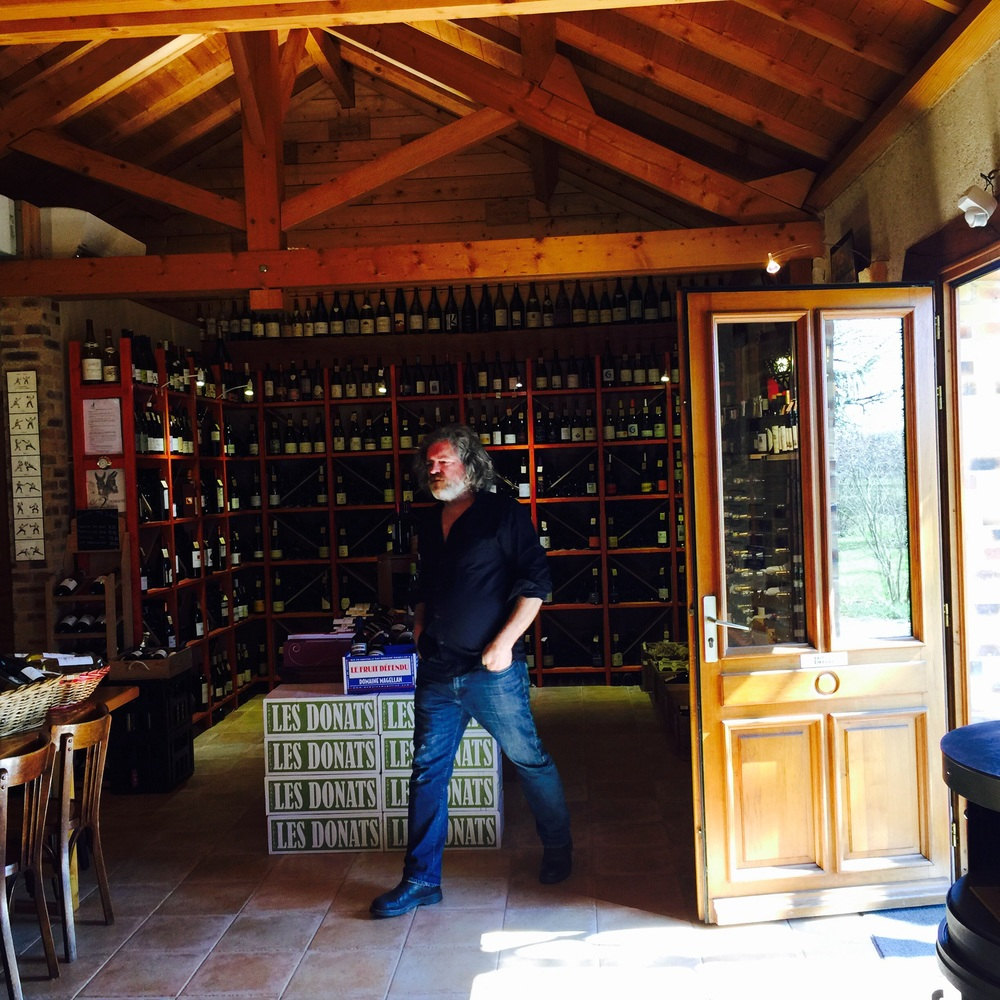 Zem has an amazing selection of Jura wines at La Cave se Rebiffe in Marnay.