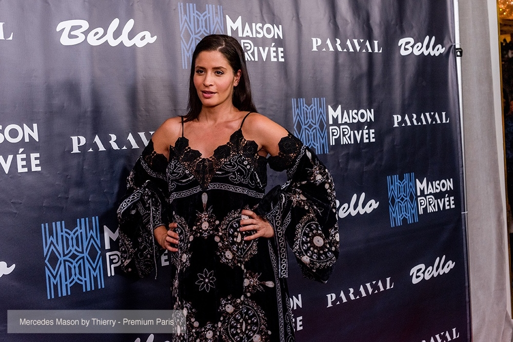 Actress Mercedes Mason attends the Bello and Maison Privée party at Hills Penthouse wearing dress by OTT (@ottdubai)
