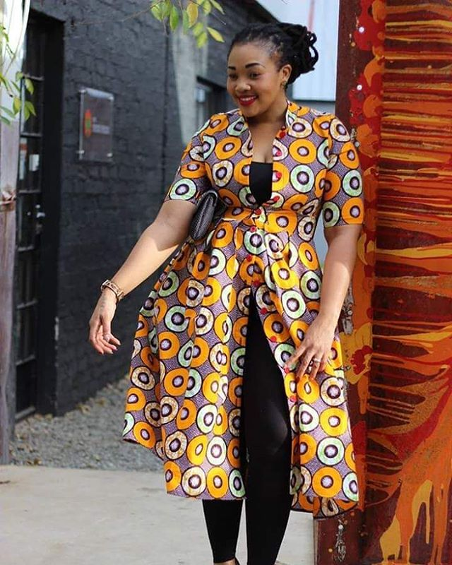 What do you like about her style? #fashion #africanprint