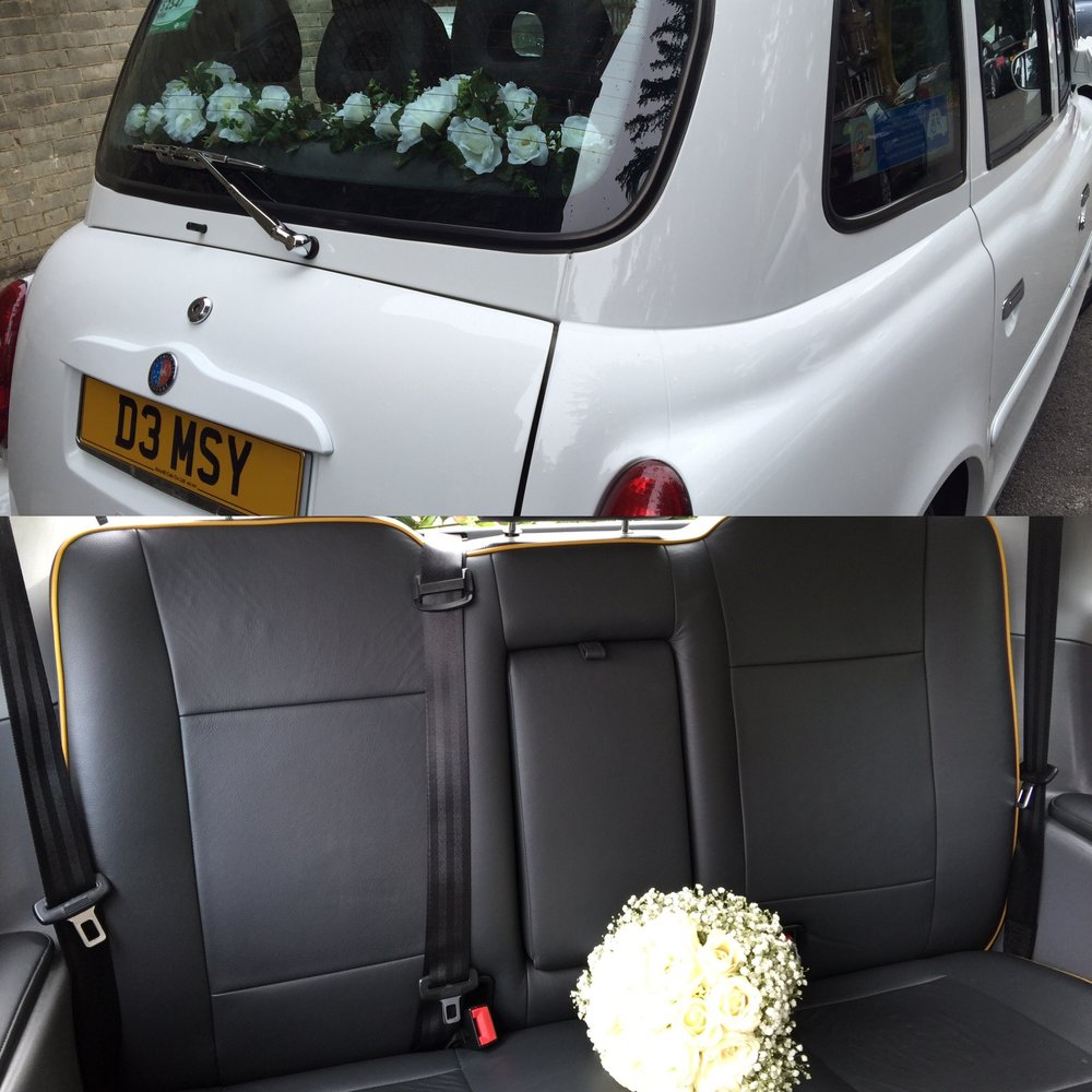 White London Wedding Cab