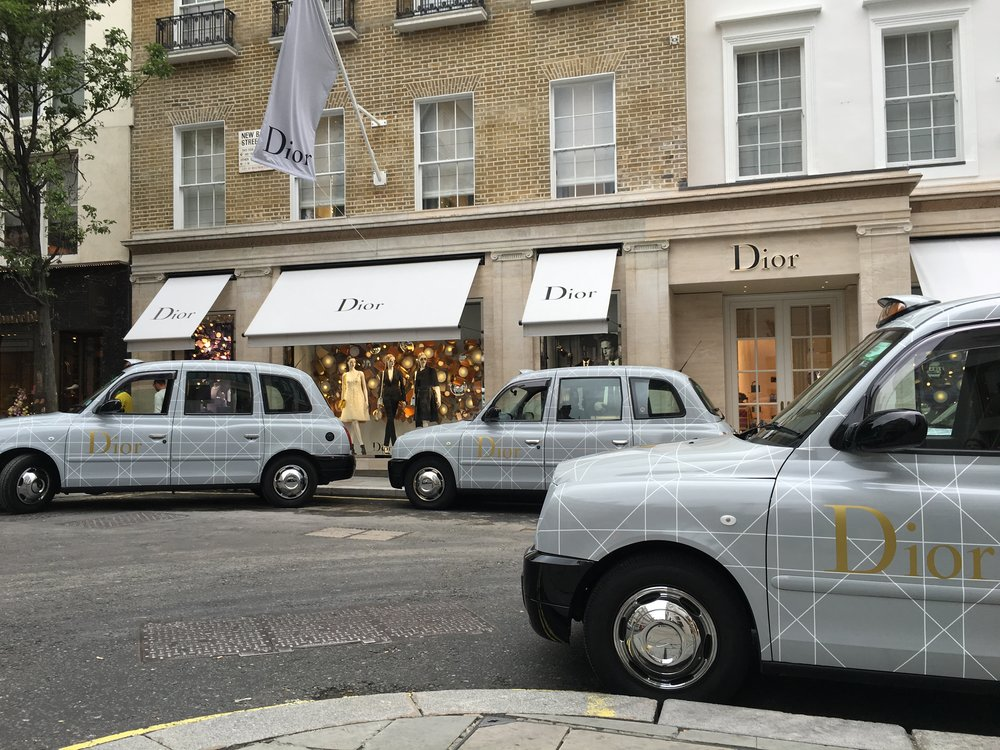 Christian Dior London Taxis