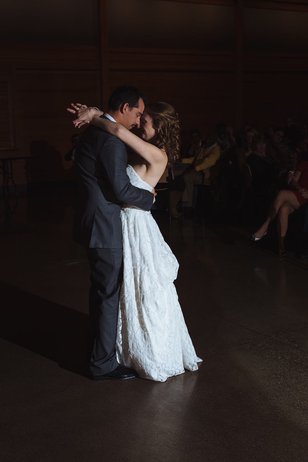 He sang the entire song to her on their first dance, I may have been crying behind the camera...
