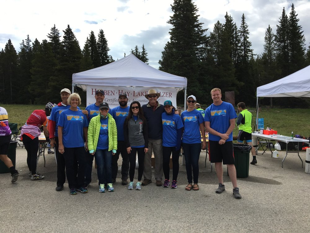 HHLB volunteer team at the 2017 Courage Classic