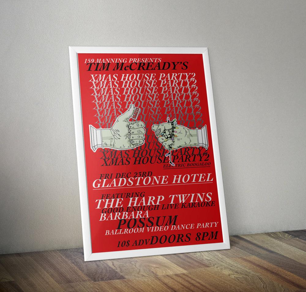 Poster design, 159 Manning, Gladstone Hotel