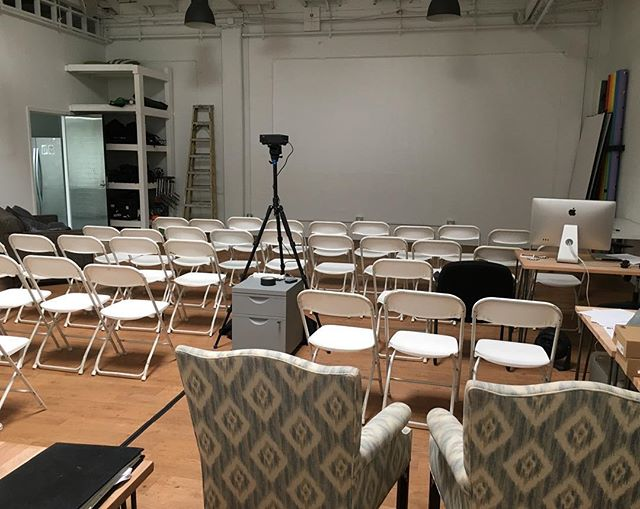 When #schememachinestudios was all set up for the first screening of #suicidekale