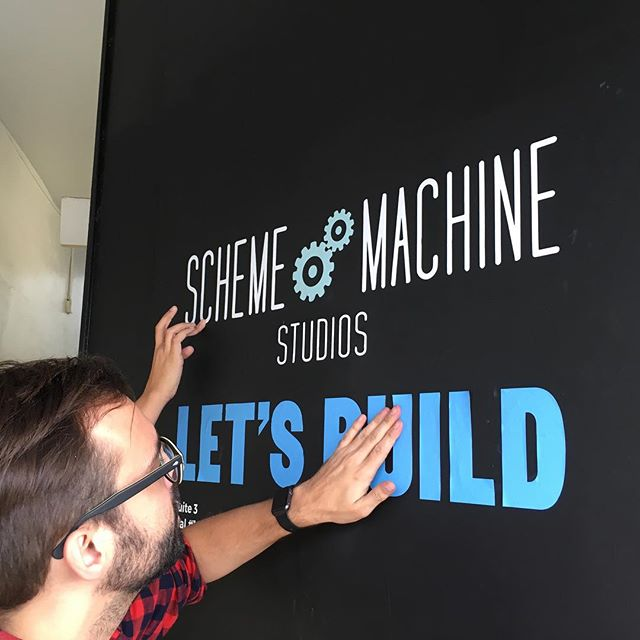 Throw back to co-branding our front door! #schememachinestudios #letsbuid