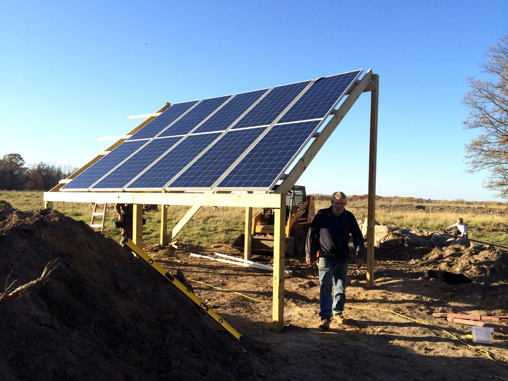 The install of our solar panels! October 2015.