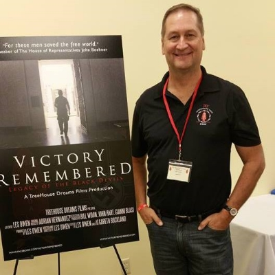 Les at the first public screening of the Victory Remembered Documentary. A great success and accomplishment.