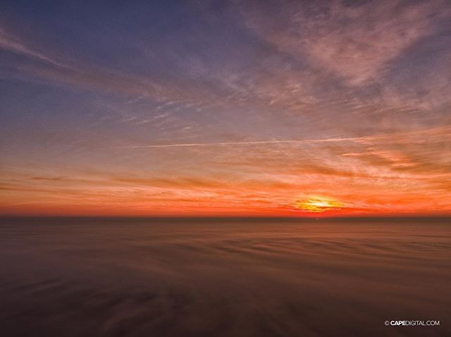 The sun rose today over a sea of fog...
