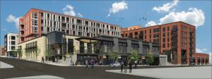 "The brand new Columbia Credit Union in the Buckman ""Goat Blocks"" neighborhood"