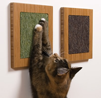 Cat scratchers available on    SquareCatHabitat.com
