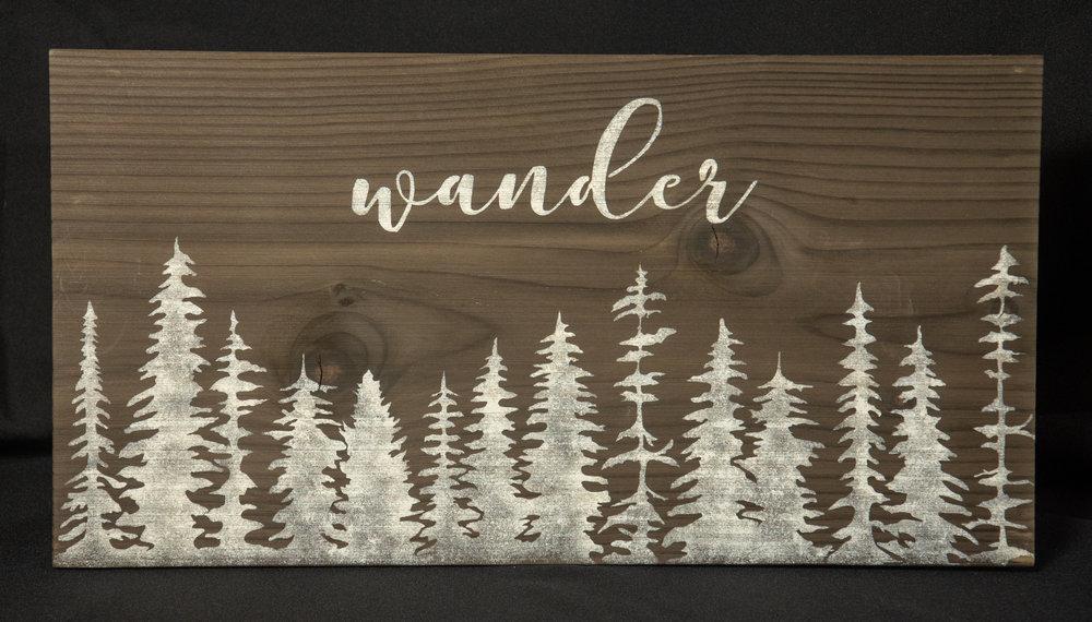 Handmade wood sign