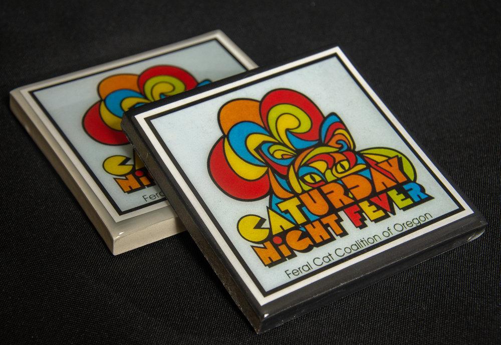 Caturday Night Live coasters