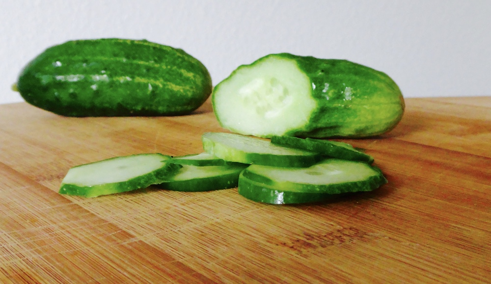 These delicious (and adorably tiny) cucumbers came from our CSA box from Yacolt Mountain Farm.