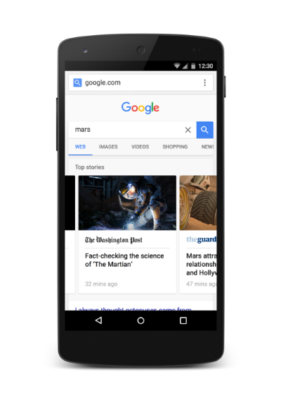 New Mobile Search look.