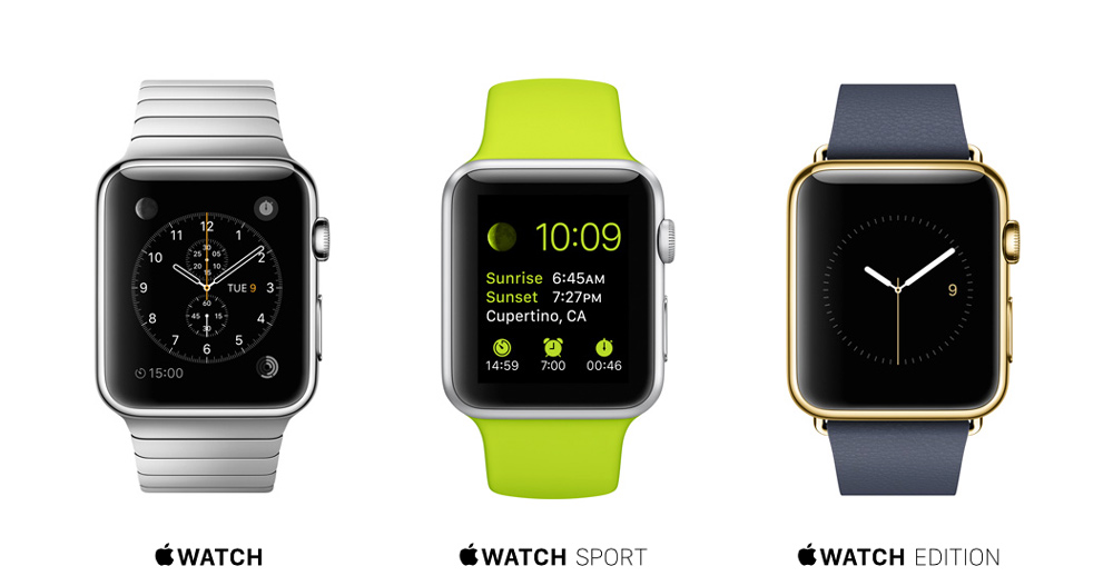 Apple Watch in its 3 core variations.