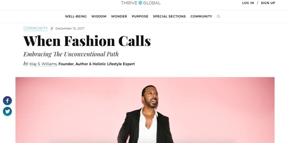 When Fashion Calls - Thrive Global