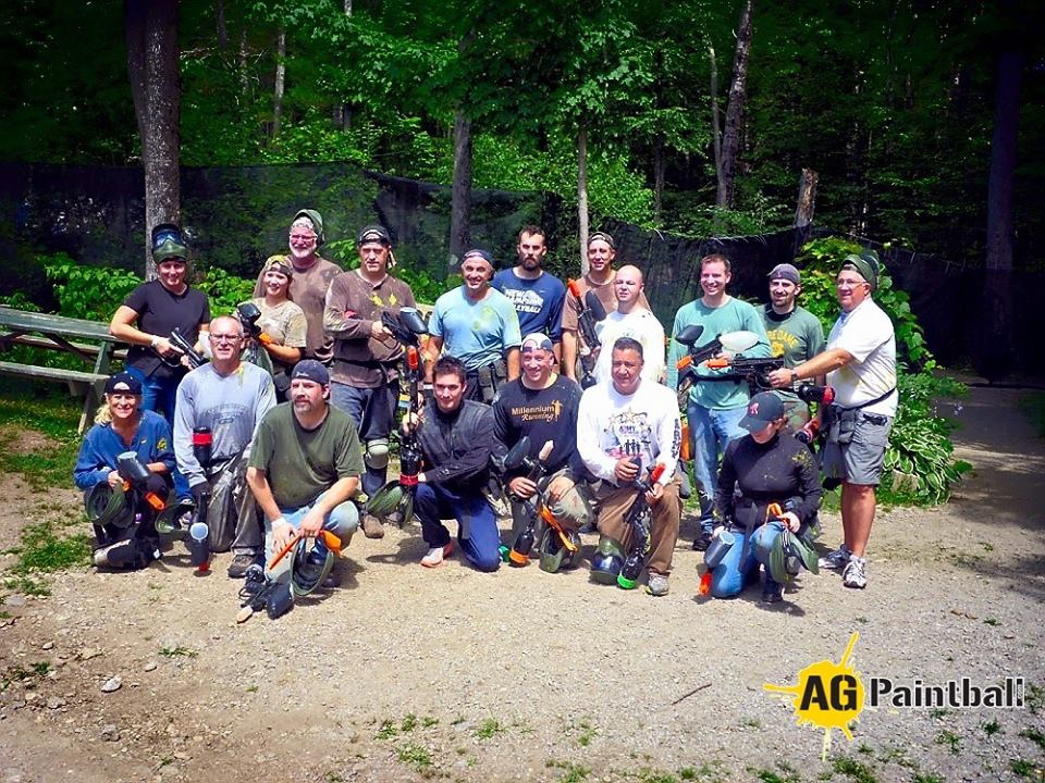 Corporate Groups love paintball, we always see smiling faces!