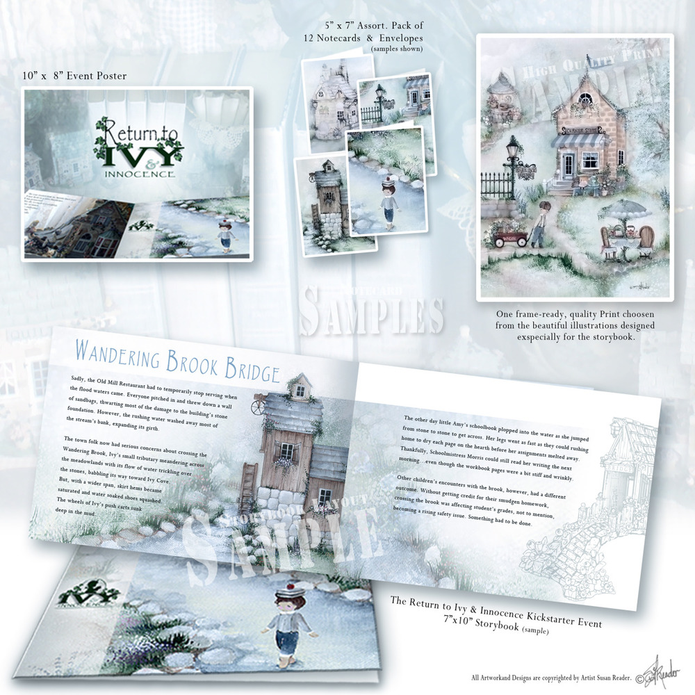 Venture down a timeless lane to a magical place called Ivy & Innocence by Susan Reader. Now releasing four enchanting items & one artistic #storybook with your #kickstarter support. https://goo.gl/8AaDzV