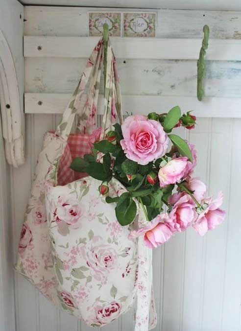 Purse full of roses.