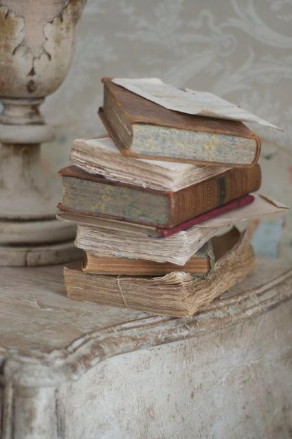countrysidelife: Old Books in a Shabby Corner