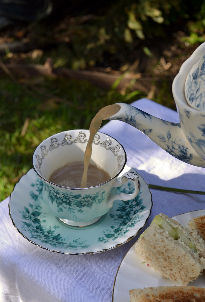 teatimewithemma: Garden Tea Party (by I'm a sea) My photo! An afternoon tea I made for myself one sunny day :)
