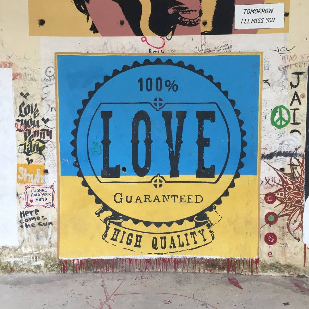 Photo taken by me at  The Beatles Ashram in Rishikesh, India.  April 2016.   (Mural artist unknown.)