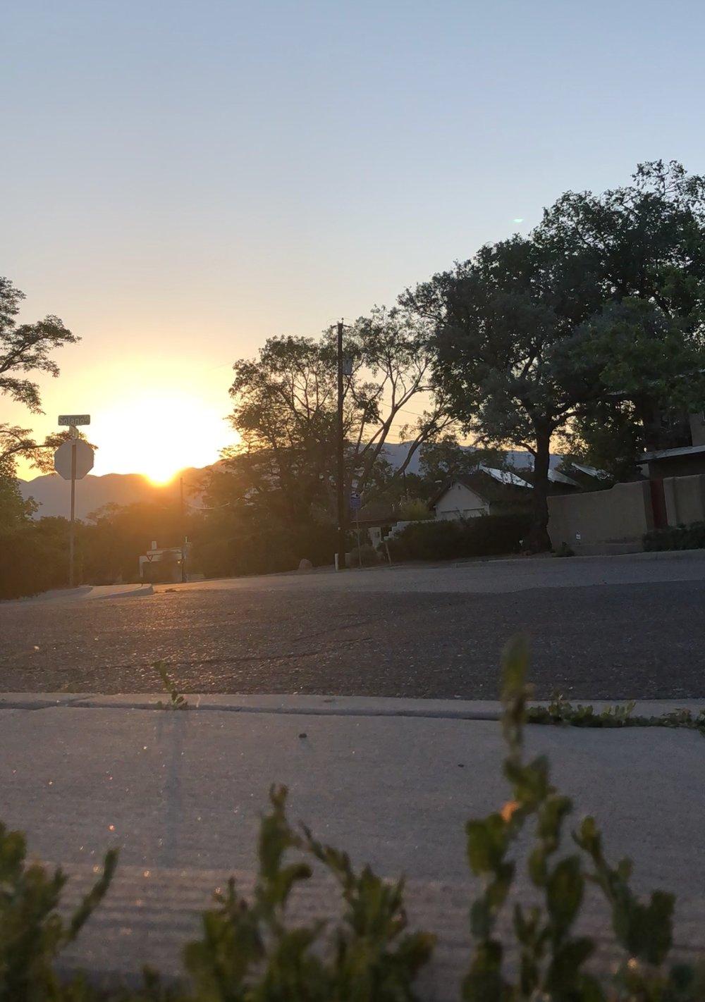 Sunrise, June 8, 2018 - Albuquerque, NM