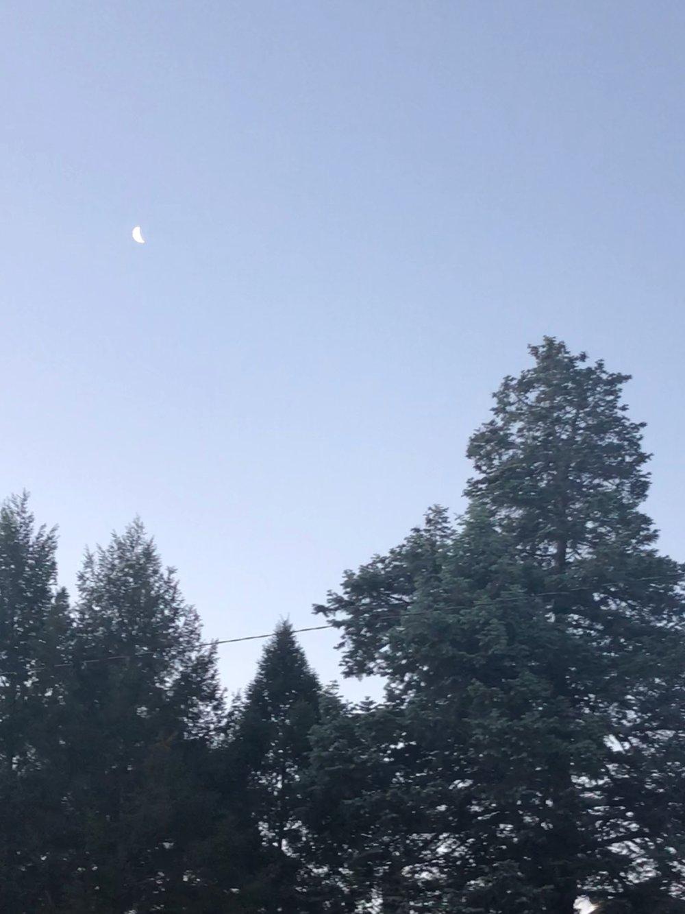 Waning Moon, June 8, 2018 - Albuquerque, NM