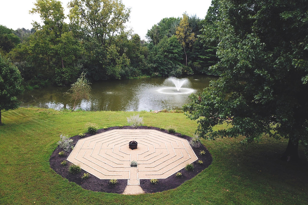 Enjoy a meditative walk through the Labyrinth before or after the session.