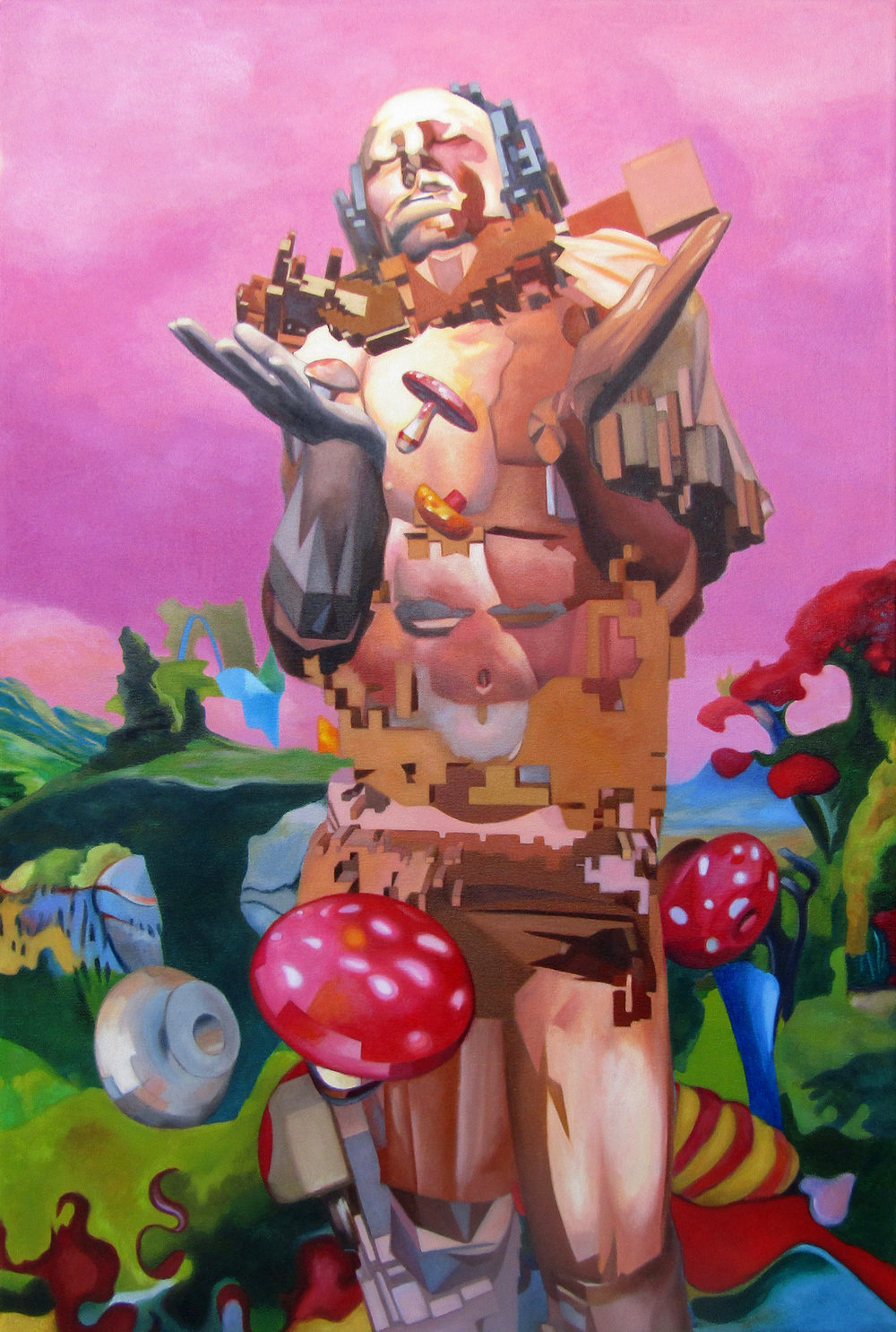 Man With Mushrooms, 2015-17